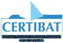 Logo Certibat - agrément formation efficacité énergétique